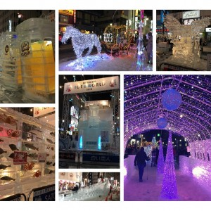 札幌雪まつり すすきの会場へGO!アイスワールドの氷像とイルミは必見!