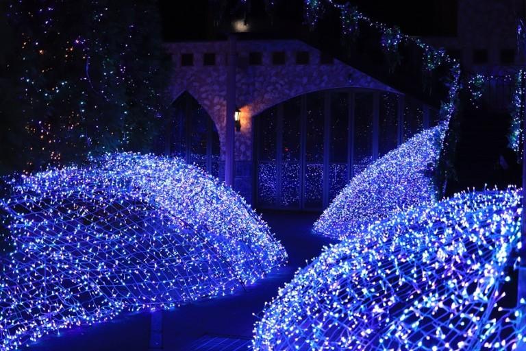 宮の森フランセスのイルミネーションは青の世界!駐車場・鑑賞ともに無料