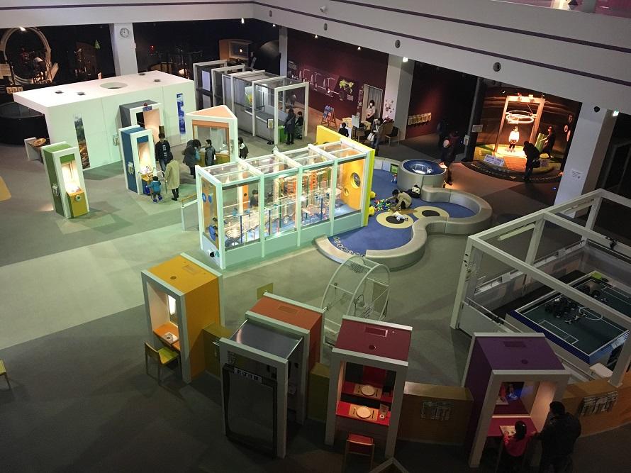サイパル展示室を2階から撮影