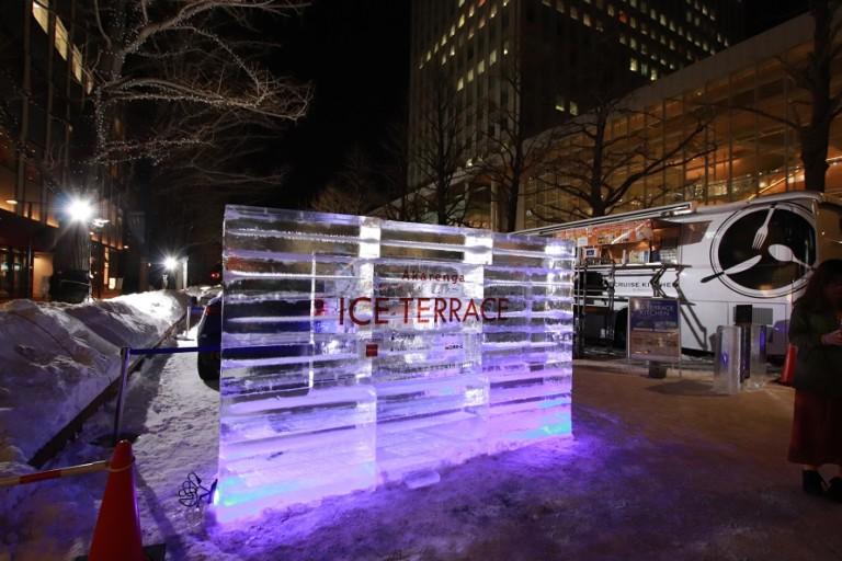 さっぽろユキテラス2019は美しい氷の美術館!クルーズキッチンでグルメも楽しめ
