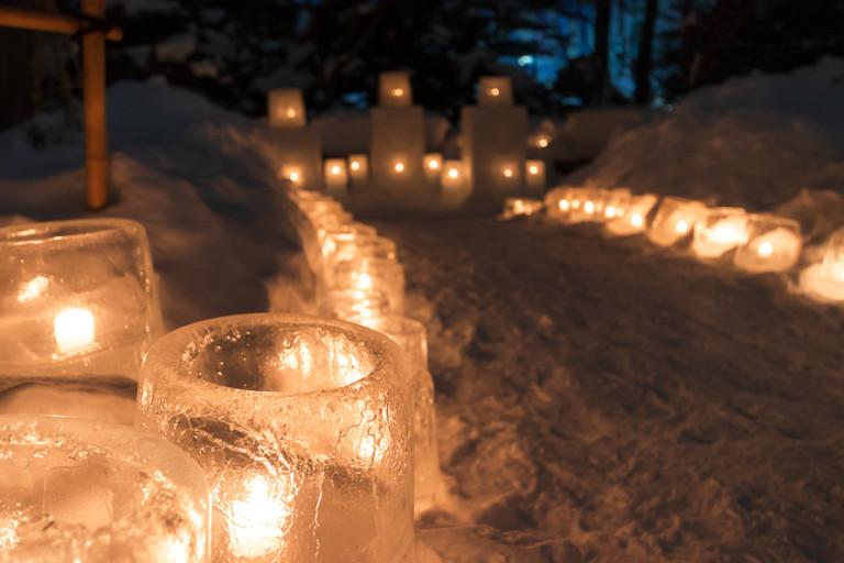 ゆきあかりin中島公園キャンドルが灯る日本庭園や雪遊びを楽しもう!