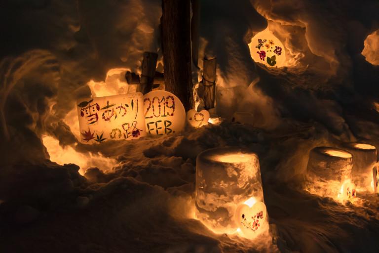小樽雪あかりの路へ!駐車場から徒歩で小樽市街メイン会場をまわったよ